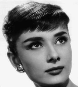 Audrey's face